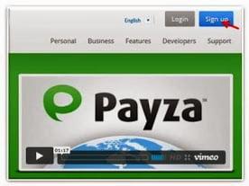 sign up payza