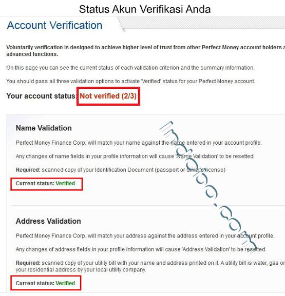 Cara Mendaftar Dan Verifikasi Perfect Money